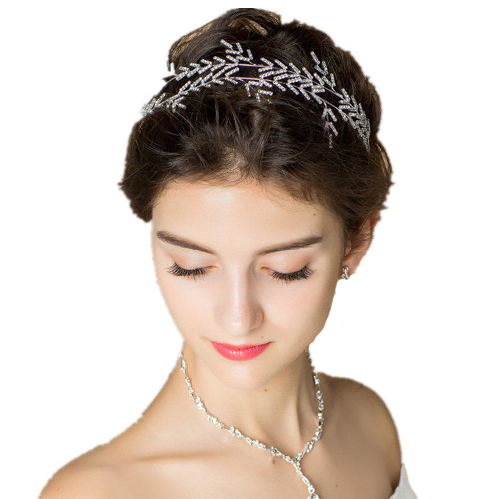 Fashion Silver Plated Crystal Headband for Women Wedding Party