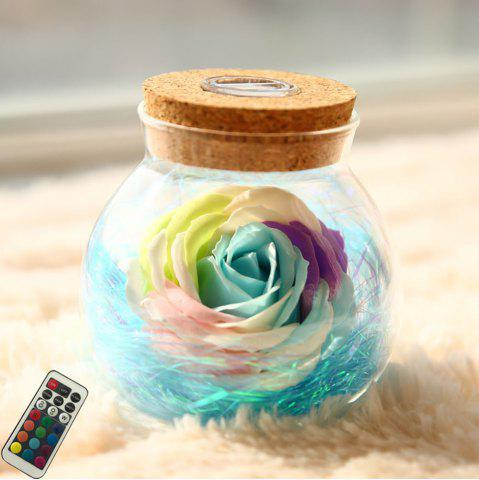 Online BRELONG LED Colorful Rose Vase Remote Control Glowing Glass Bottles Decoration