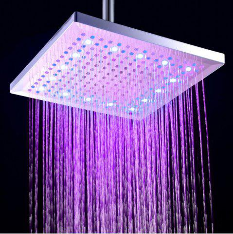 Affordable BRELONG LED Shower Head Felt Warm Three-olor Square 12-inch 300mm