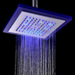 BRELONG LED Spray Shower Temperature Controlled Three-color 8-inch Square -