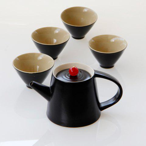 Online New 7pcs Ceramic  Tea Set Gift Pot 250ML Six Cup Porcelain Coffee Tools Drinkware