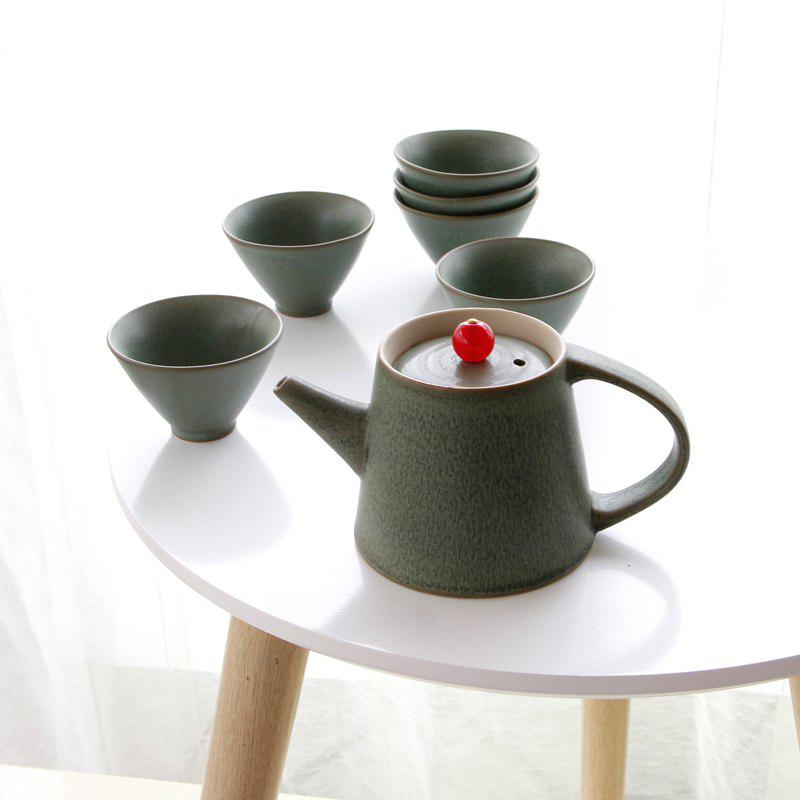 Affordable New 7pcs Ceramic  Tea Set Gift Pot 250ML Six Cup Porcelain Coffee Tools Drinkware