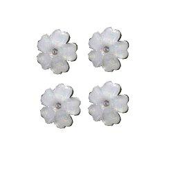 Exquisite Crystal Ornament Beautiful Five Leaf Flower Ear Nail -