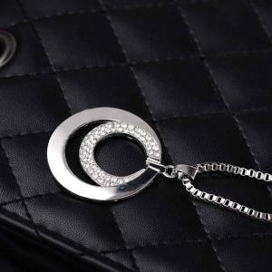 High-end Fashion with Silver Double-ring Necklace -
