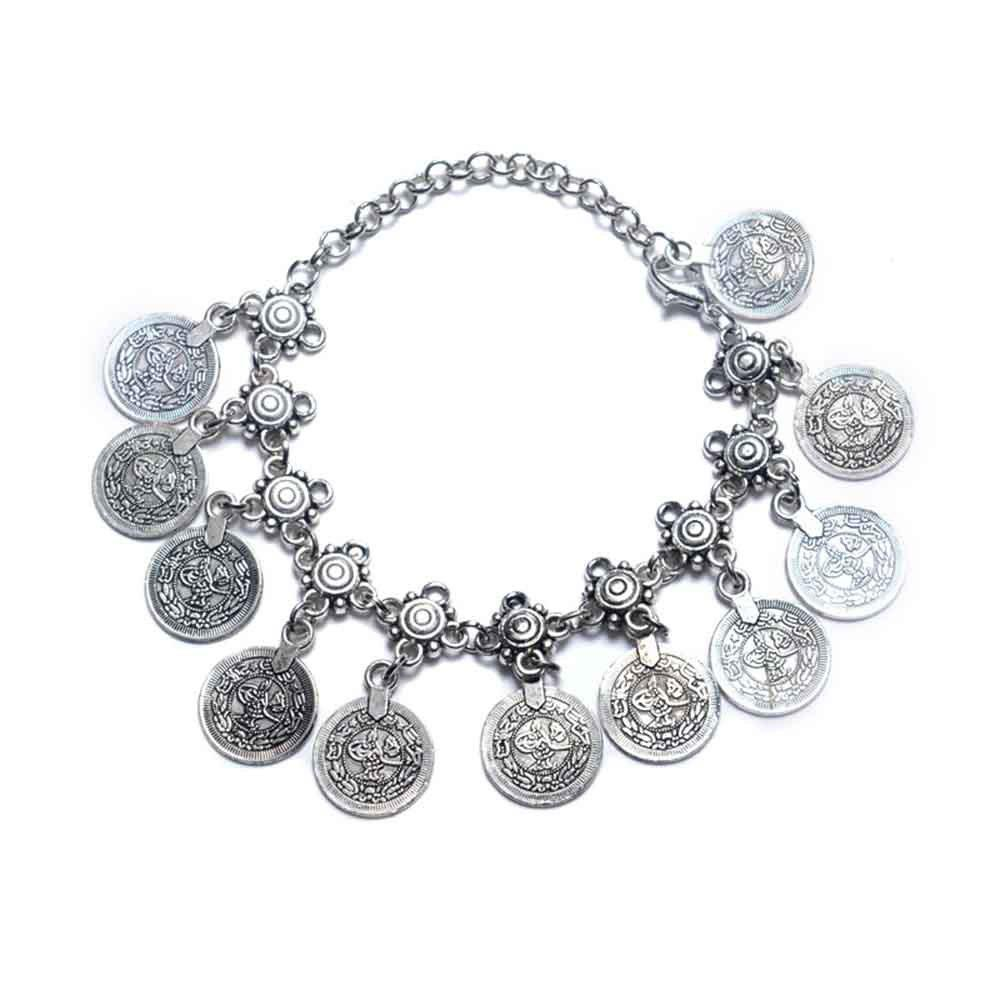Online High-end Fashionable Vintage Style Metal Coin Tassel