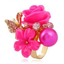 Fashion Index Finger Open Personality Golden Roses Rings -