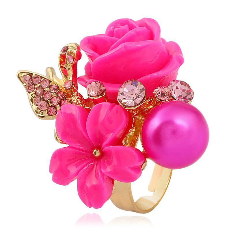 Outfits Fashion Index Finger Open Personality Golden Roses Rings