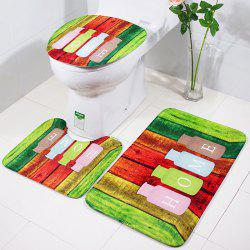 RB035Three Pieces of Slippery Cushion for Toilet Toilet Cushion in Bathroom and Toilet -