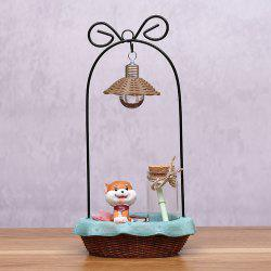 Dessin animé mignon Shiba Inu Night Light artisanat ornements -