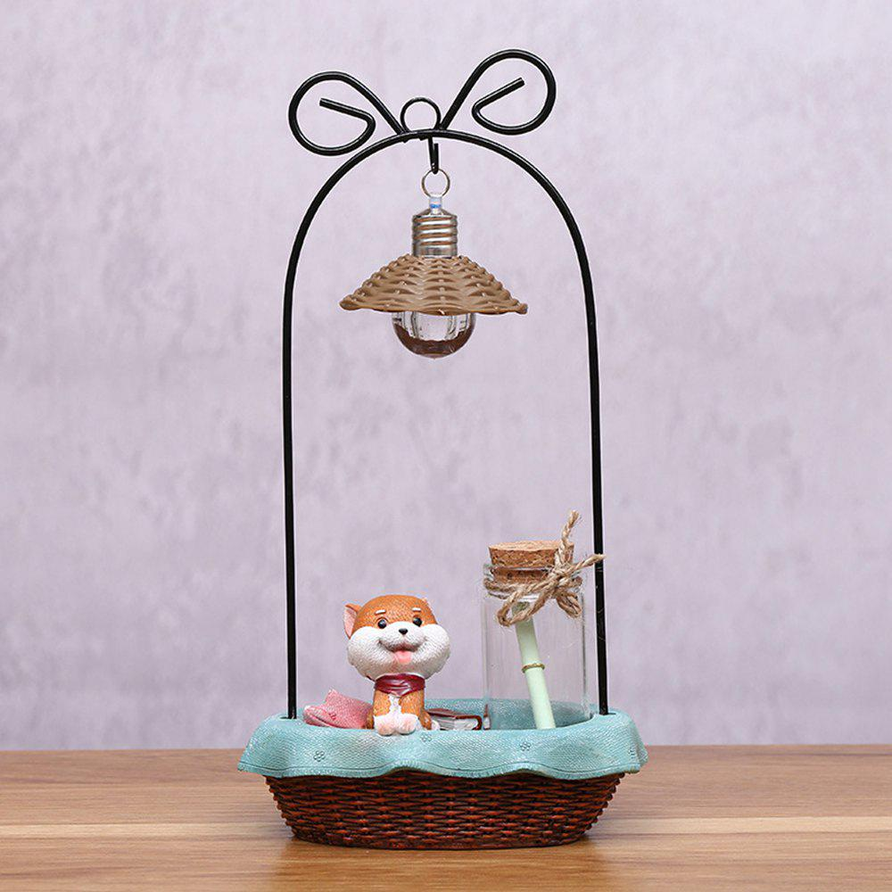 Dessin animé mignon Shiba Inu Night Light artisanat ornements