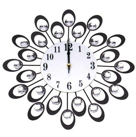 Unique European High-grade Flowers Iron Fashion Mute Bedroom Wall Clock