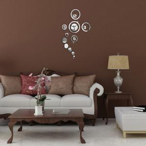 Home Decoration Mirror Living Room Wall Clock -