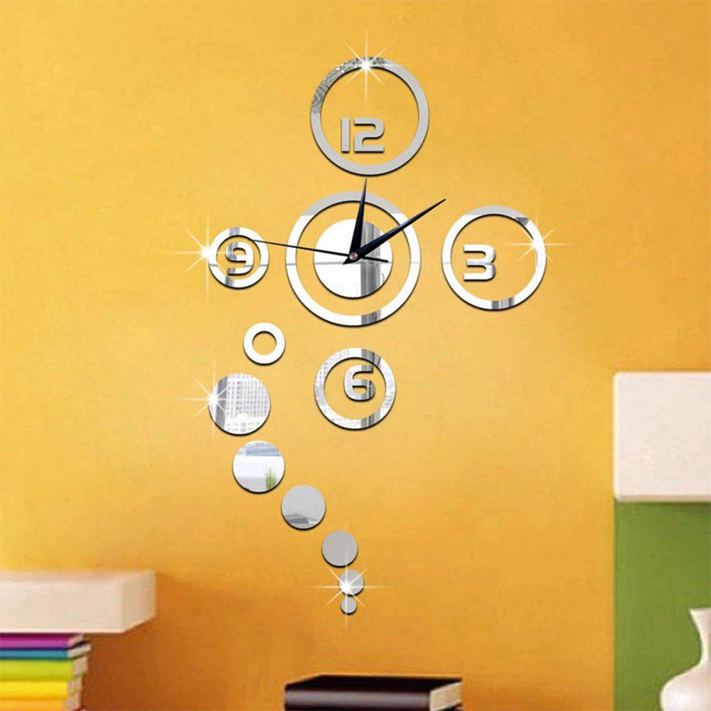 Cheap Home Decoration Mirror Living Room Wall Clock
