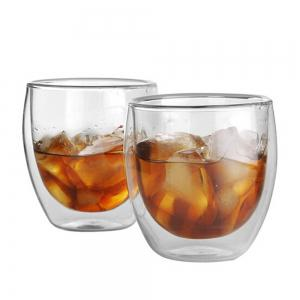 80ML Double Layers Coffee Cup Glass Water Cup -