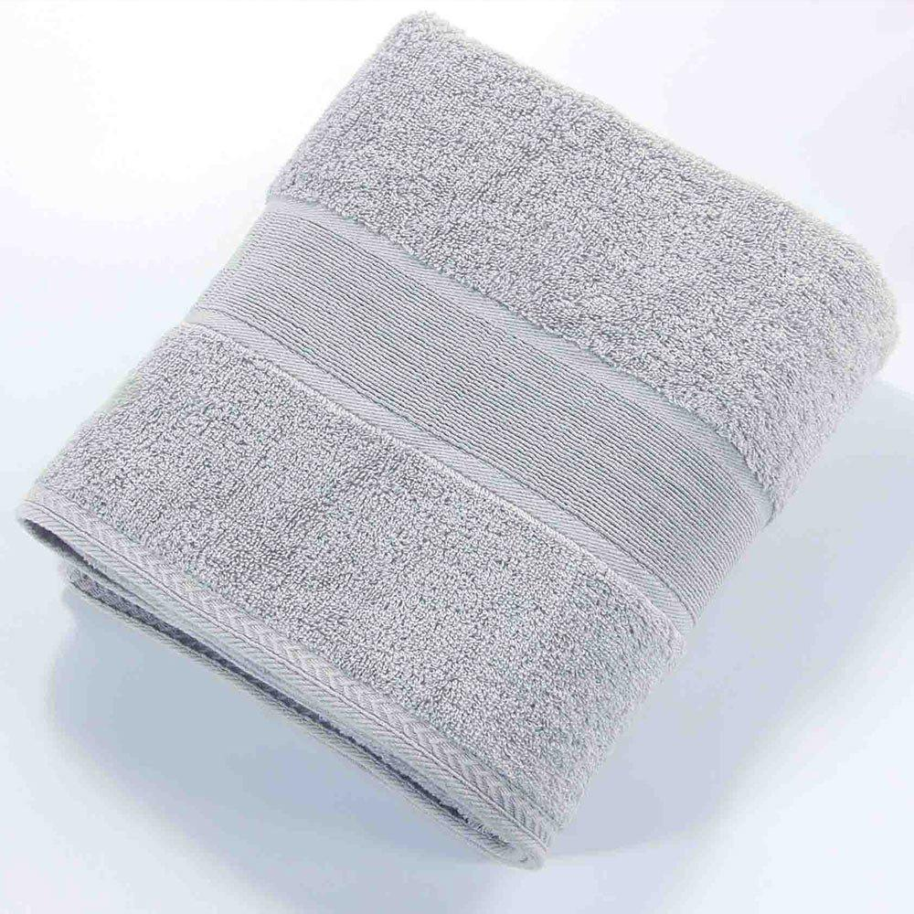 New New Pure Color Jacquard Nature Cotton Square Hand Towel