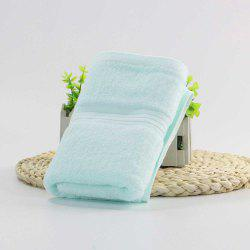 Soft Washrag Single Color Jacquard Satin Craft Nature Cotton Rectangle Towel -