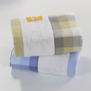 Gauze Children'S Towel Adult Handkerchief Grid Dyeing Machine Washable Square Towel -