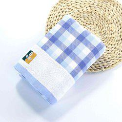 Fashion Gauze Bath Towel Grid Pattern Wash Towel Home Bathroom and Travel Cotton Washcloth -