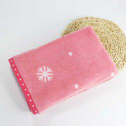 Soft Cotton Face Hair Towel for Children Adult Snowflake Snowflake Sports Camping -