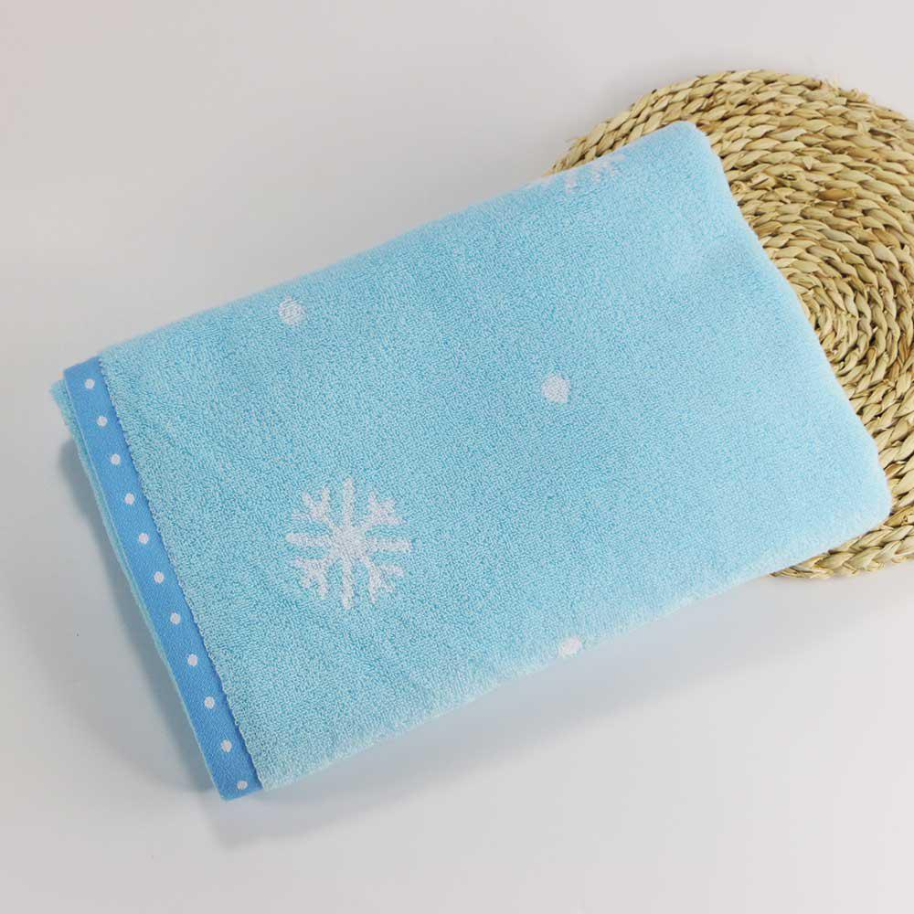 Hot Soft Cotton Face Hair Towel for Children Adult Snowflake Snowflake Sports Camping