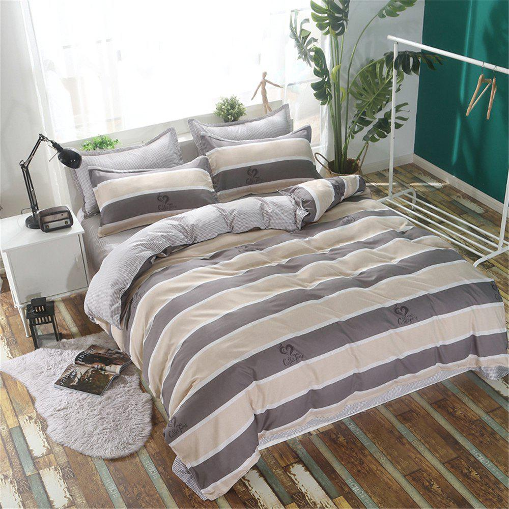 Shop Bedclothes 4 Pieces 1.5/1.8M Bedsheets Are Covered By A Student Dormitory 1.2 Single Bed Quilt 3 Sets 4