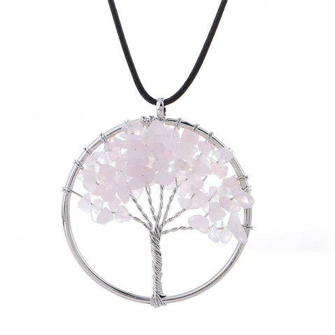 Fancy Natural Pink Crystal Necklace Energy Stone Handmade Jewelry