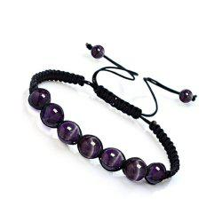 Модная энергия Natural Crystal Tiger Eye Stone Handcraft Bracelet Jewelry Woman -
