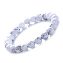 Fashion Minimalist Natural White Turquoise Bracelet Woman Jewelry -