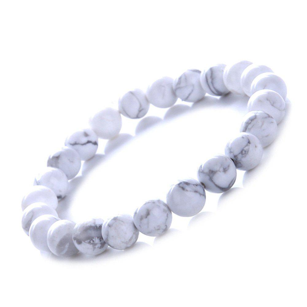 Hot Fashion Minimalist Natural White Turquoise Bracelet Woman Jewelry