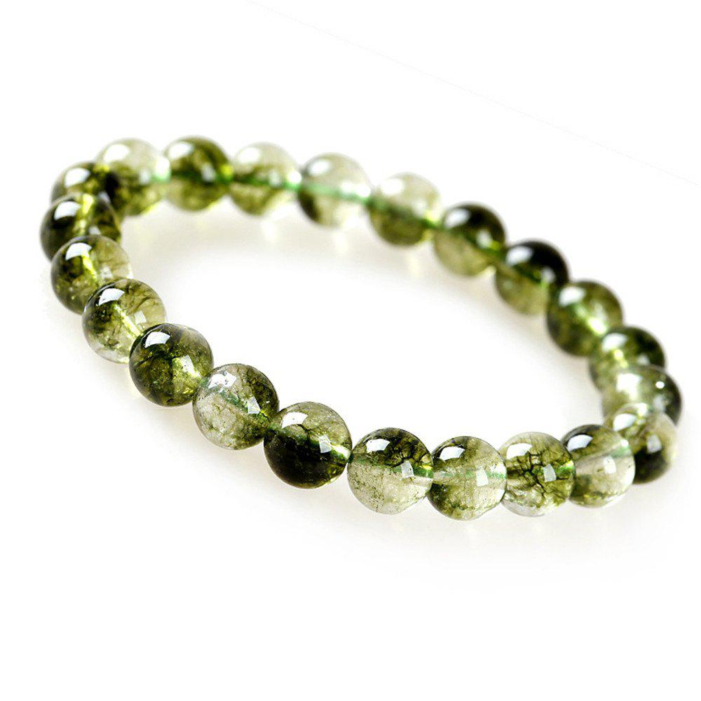Sale Fashion Simple Natural Green Crystal Bracelet Woman Jewelry