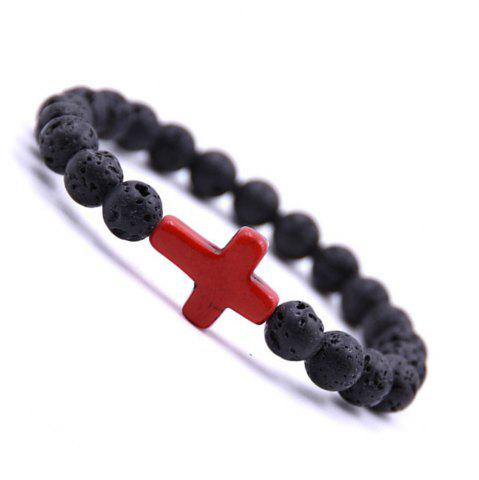 red stone volcano product seven agate color natural bracelet wholesale amethyst fashion beaded from buddha lava with head