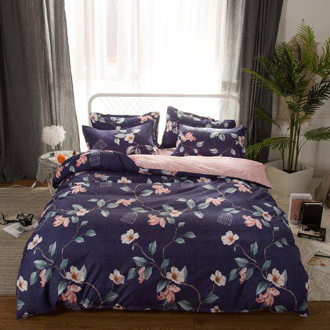 Fashion 4 Pcs Duvet Cover Set Modern Floral Soft Comfy Sheet Sets