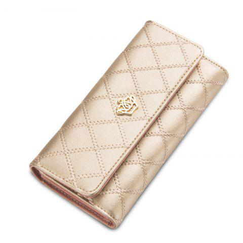 Best Baellerry Long Trifold Plaid Crown Purse Embroidered Hand Bag Credit Card Holder