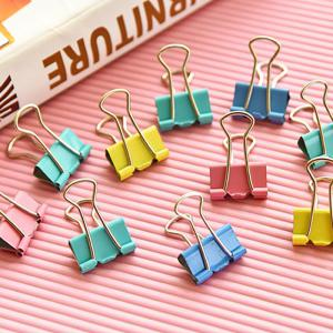 DIHE Document Small Colorful Clip Office Stationery Multipurpose 40PCS -