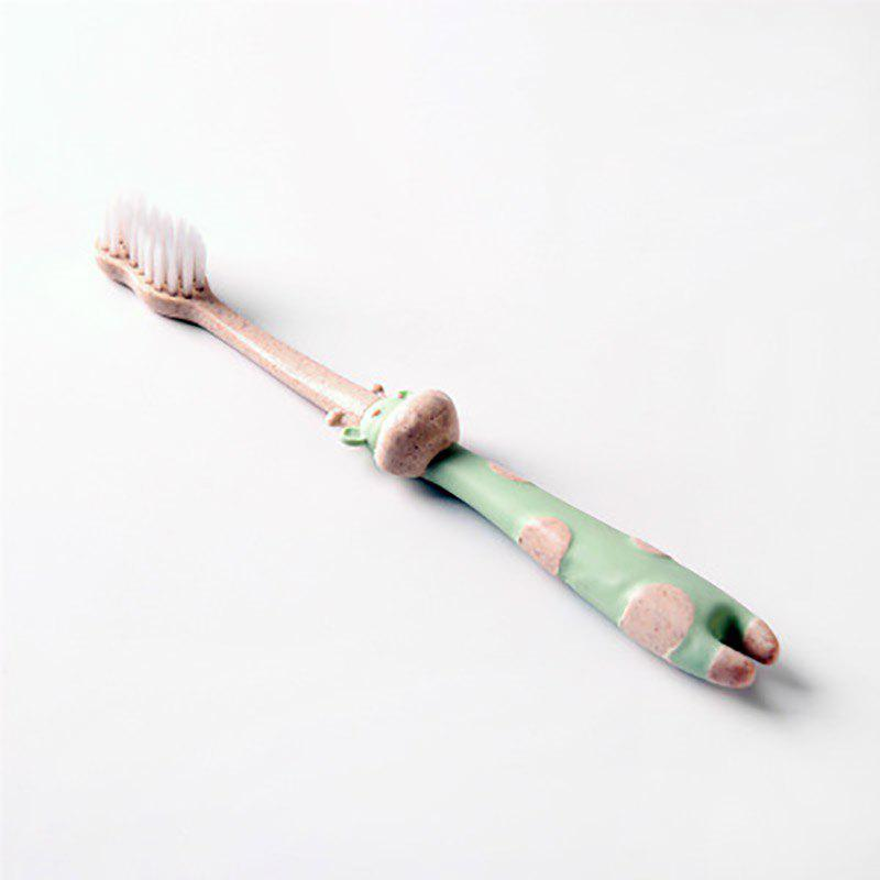 Store DIHE Simple Environmental Protection Wheat Straw Cartoon for Child Toothbrush