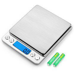 Digital Kitchen Scale Stainless Steel High Precision Pocket Food Multifunction with Back Lit LCD Display -