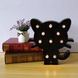 LED Cute Black Cat Night Light Decoration for Children Bedroom Living Room -