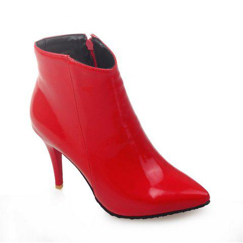 New Women Shoes Zip Booties Stiletto Heel Ankle Boots