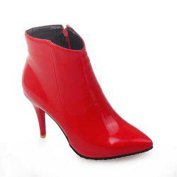 Women Shoes Zip Booties Stiletto Heel Ankle Boots -