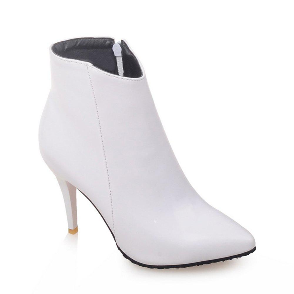 Shop Women Shoes Zip Booties Stiletto Heel Ankle Boots