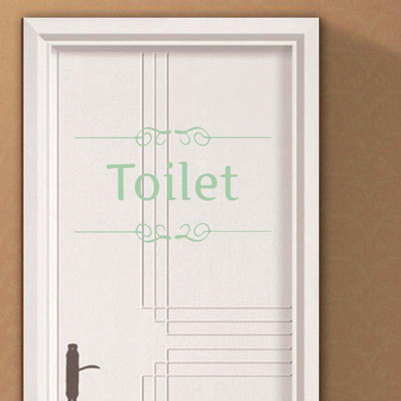 Buy DSU Luminous Toilet Sign Bathroom Fluorescent Wall DecalsToilet Door Art Decoration low in The Dark Quote Sticker