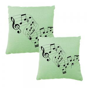 Musical Notes Cotton Linen Cushion Covers Household Decoration Home Furnishing Printing Pillowcase -