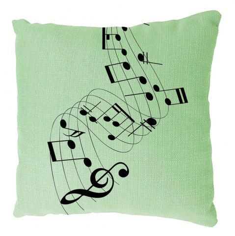 Hot Musical Notes Cotton Linen Cushion Covers Household Decoration Home Furnishing Printing Pillowcase