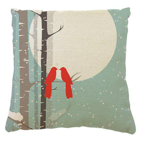 Discount Home Adornment Cushion Cover Branches Birds Month