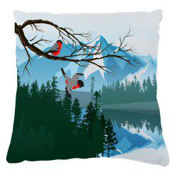 Green Bird Sofa Cushion Cover Mountains Rivers Home Furnishing Decorations Can Disassembled Cleaning -