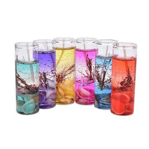 New 6PCS Smokeless Candles Ocean Shells Jelly Aromatherapy Candles Decoration Crossborder