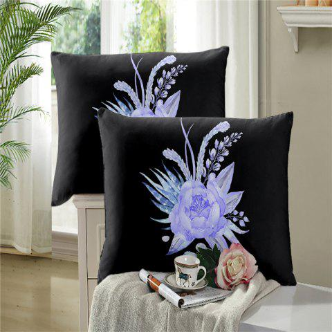 Latest 3D Painted Embroidery Petals Leaves Series Pillow Sofa Cushion Cover Lotus SK01