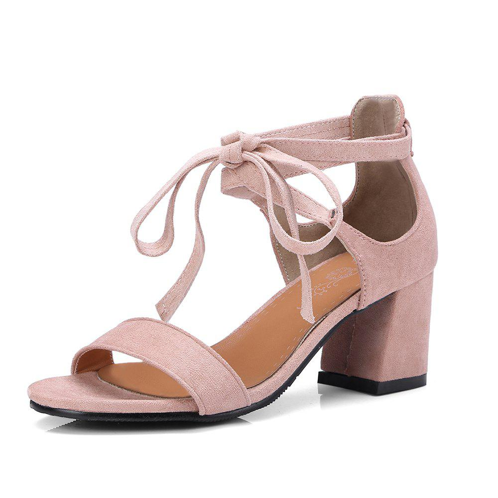Discount The New 18-27 Round Rough Heels All-Match Strap Sandals