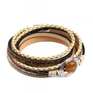 Fashion Multilevel Cortico Crystal Agate Bracelet -