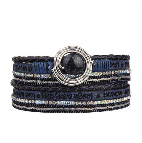 Chic Fashion Multilevel Cortico Crystal Agate Bracelet